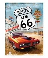 Klassieke auto met route 66