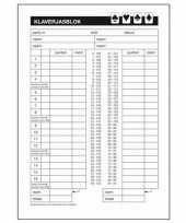 Klaverjassen scoreblok a5