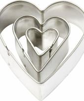 Klei uitstekers hart 3 stuks