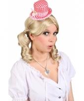 Klein oktoberfest hoedje voor dames