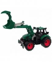 Kleine groene tractor