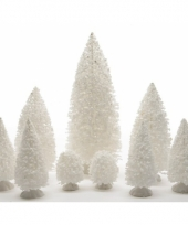 Kleine witte kerstboompjes 9x