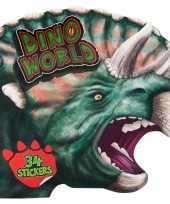 Kleurboek dinosaurussen met stickers