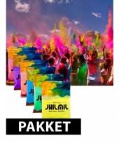 Kleurpoeder pakket holi color festival 7 st