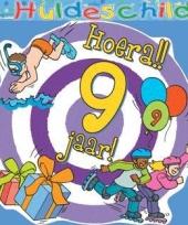 Kleurrijk huldebord 9 jaar