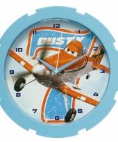 Klok met plaatjes van disney planes