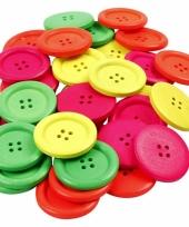 Knopen in neon kleur 60 stuks