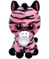 Knuffel beanie zoey zebra 24 cm