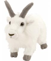 Knuffel geiten wit met kraalogen 20 cm