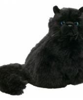 Knuffel perzische kat zwart 30 cm
