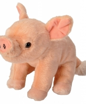 Knuffel pluche biggetje roze 20 cm
