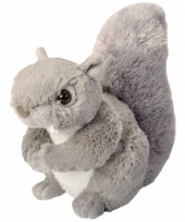 Knuffel pluche eekhoorn grijs 20 cm