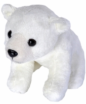 Knuffel pluche ijsbeertje 15 cm