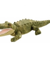 Knuffel pluche krokodil groen 38 cm