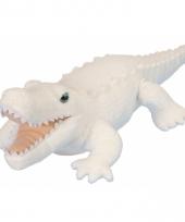 Knuffel pluche krokodil wit 38 cm