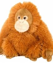 Knuffel pluche orang utan oranje 20 cm