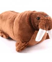 Knuffel walrus bruin 21 cm