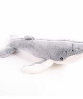 Knuffel walvis grijs 24 cm