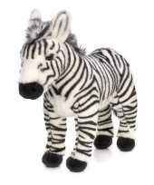 Knuffel zebra staand 30 cm