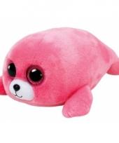 Knuffel zeehond roze ty beanie boo s 15 cm