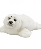 Knuffel zeehondjes wit 40 cm