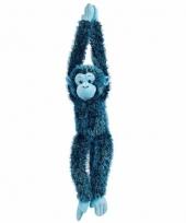 Knuffelbeesten blauwe aap hangend 84 cm