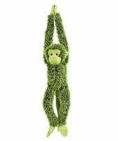 Knuffelbeesten groene aap hangend 84 cm