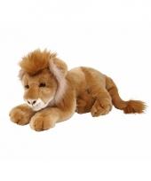 Knuffelbeesten liggende leeuw 50 cm
