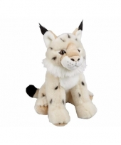 Knuffelbeesten lynx zittend 30 cm