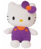 Knuffeldier hello kitty paars 12 cm