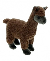 Knuffeldieren alpaca bruin 23 cm