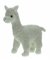 Knuffeldieren alpaca wit 23 cm
