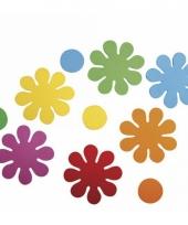 Knutsel foam rubber bloemen zelfklevend 40 st