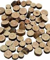 Knutsel houtjes schijven mix 230 gram