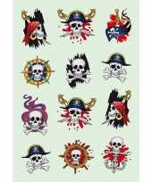 Knutsel piraat stickers 3 stuks