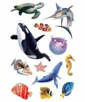 Knutsel stickers oceaan dieren met glittersteentjes