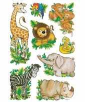 Knutsel stickers wilde dieren 3 stuks
