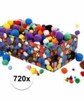 Knutselbolletjes assortiment 720 stuks