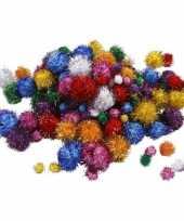 Knutselbolletjes glitter assortiment 400 stuks