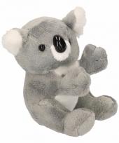Koala knuffel beertje grijs 14 cm