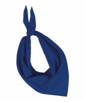 Kobalt blauwe kariban zakdoeken