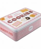 Koektrommel roze cookies 23 cm