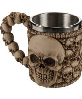 Koffie beker met doodskoppen 10075209