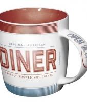 Koffie mok amerikaanse lunchroom 33 cl