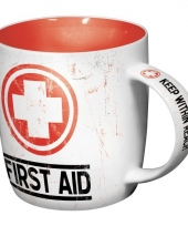 Koffie mok first aid 33 cl