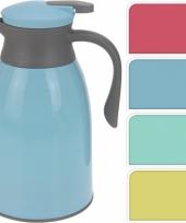 Koffiekan geel grijs 1 liter