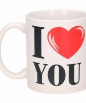 Koffiemok i love you keramiek 300 ml