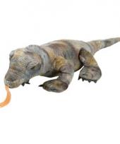Komodovaraan knuffel met kraalogen 30 cm