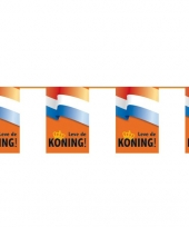 Koningsdag decoratie leve de koning vlaggenlijn