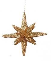 Koperen glitter kerststerren 7 5 cm